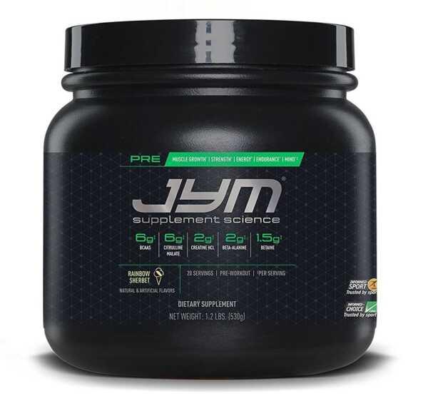 JYM Pre-Workout Rainbow Sherbet 20 Serve