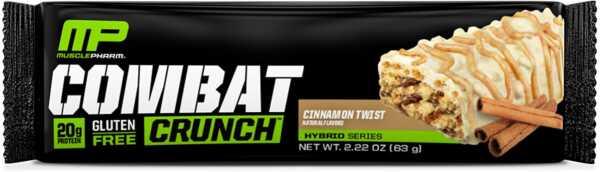 MusclePharm Combat Crunch Cinnamon Twist Bar
