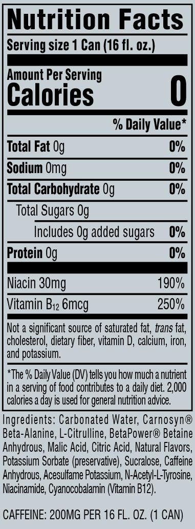 Nutritional Info: C4 RTD Twisted Limeade (16oz)