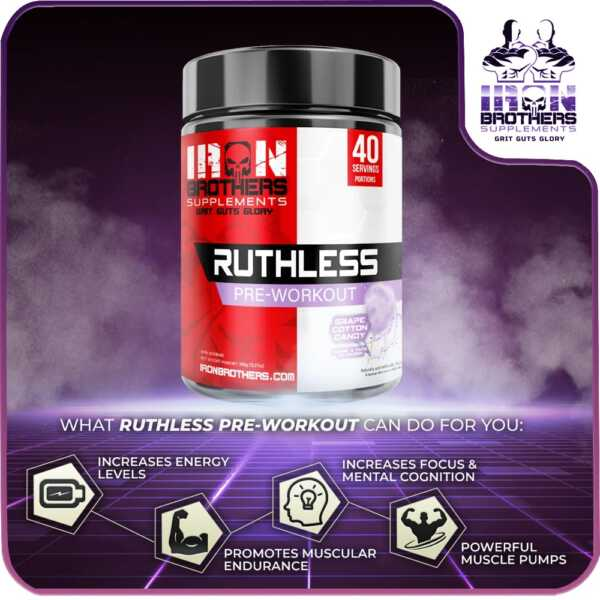 Iron Brothers Ruthless Pre Workout Flyer