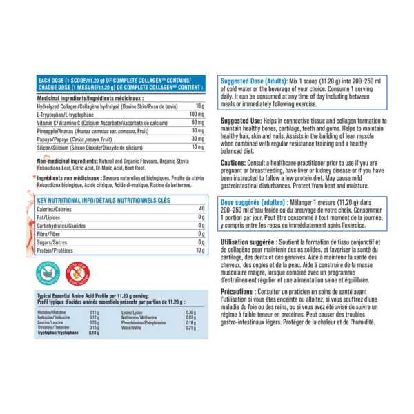 Progressive Complete Collagen Protein Nutrition Facts