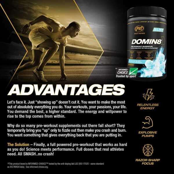 PVL Gold Series DOMIN8 (Advantages)