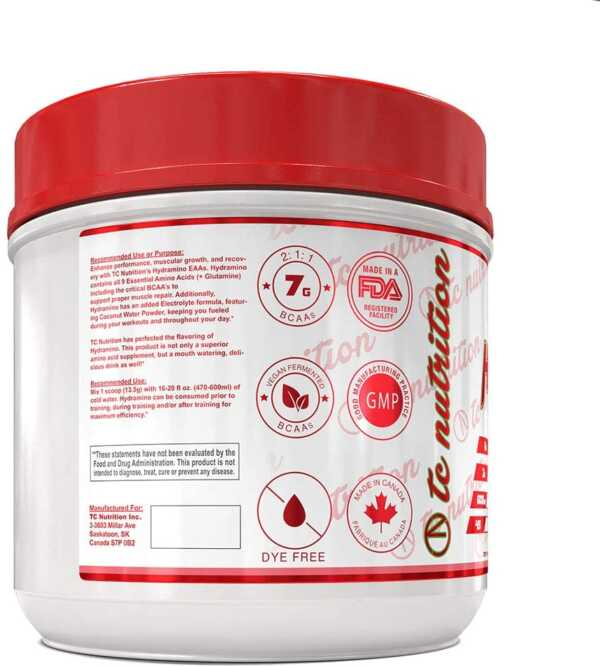 TC Nutrition Hydramino Watermelon Candy 45 Serve (back)